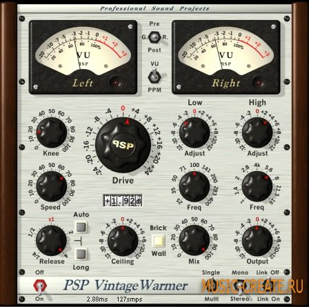 PSP VintageWarmer2 от PSPaudioware - компрессор / лимитер