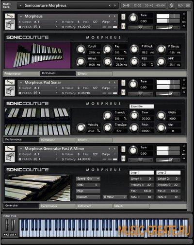 Morpheus от SonicCouture - алюминиевый ударный инструмент для KONTAKT