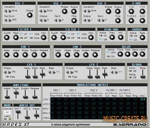Hades XT от Bserrano - синтезатор