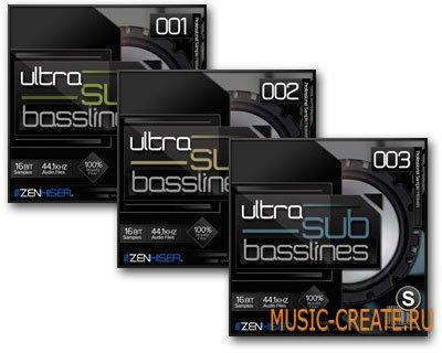 Ultra Sub Basslines Vol. 1-2-3 от Zenhiser - басовые грувы