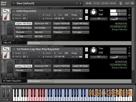Sonic Implants Symphonic Strings Collection от SONiVOX - струнные инструменты симфонического оркестра (NKI/WAV)