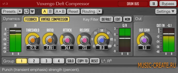 Voxengo - Deft Compressor 1.4 x86/x64 (Incl.Keygen) - плагин компрессор
