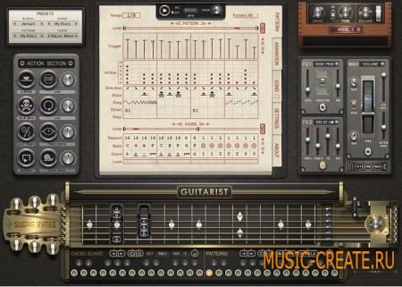 Sugar Bytes Guitarist STANDALONE VSTi v1.0.2 + Library (x86/x64 ASSiGN) - виртуальная гитара