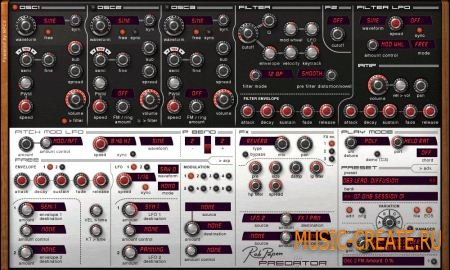 Rob Papen - Predator v1.6.5b (TEAM R2R) - гибридный синтезатор
