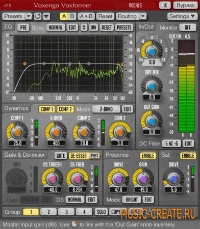 Voxformer VST v2.9 от Voxengo - плагин для обработки вокала (x86/x64 / TEAM ASSiGN)