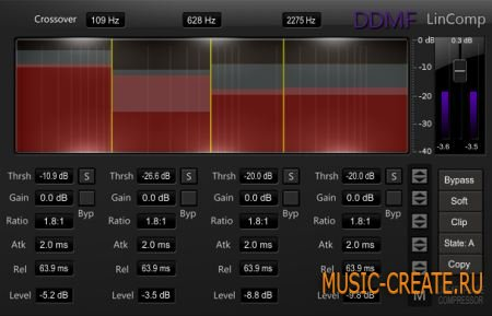 DDMF LinComp VST v1.0 x86/x64 (ST3RE0) - плагин компрессор