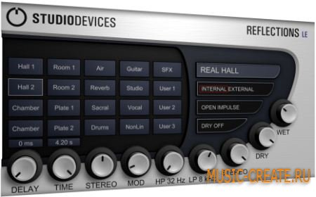 STUDIODEVICES - REFLECTIONS LE v1.2 (Incl Keygen ASSiGN) - плагин ревербератор