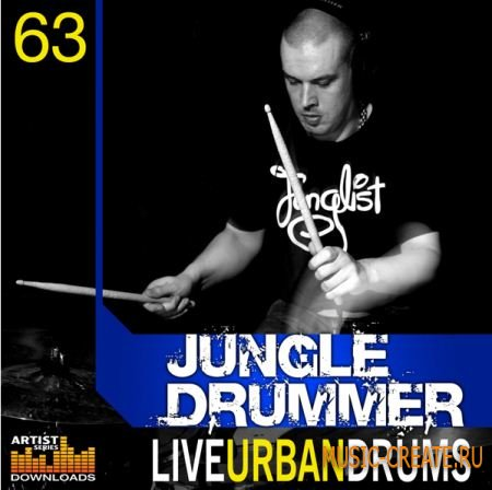 Loopmasters - Jungle Drummer Live Urban Drums (MULTIFORMAT) - сэмплы Drum and Bass, Hip Hop, Dubstep, Breaks, Down Tempo, Break Beat