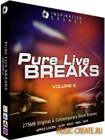 Inspiration Sounds - Pure Live Breaks Vol 2 (WAV REX AIFF) - сэмплы Breaks