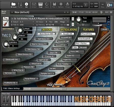 Kirk Hunter Studios - Solo Strings 2 (KONTAKT) - библиотека звуков струнных инструментов