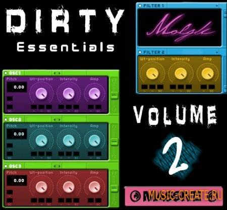 Molgli - Dirty Essentials Vol 2 (NI Massive Soundbank)