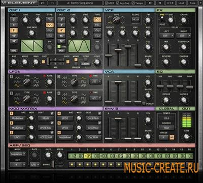 Waves - Element 1.0 VSTi VST VST3 RTAS Standalone x86 x64 (Team iND) - синтезатор