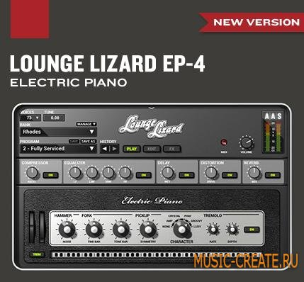 Applied Acoustics Systems Lounge Lizard EP-4 v4.2.5 WIN OSX (Team P2P/AiR) - электрическое пианино
