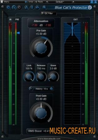 Blue Cat Audio - Protector v2.03 x86 x64 (Team CHAOS) - плагин стерео brickwall
