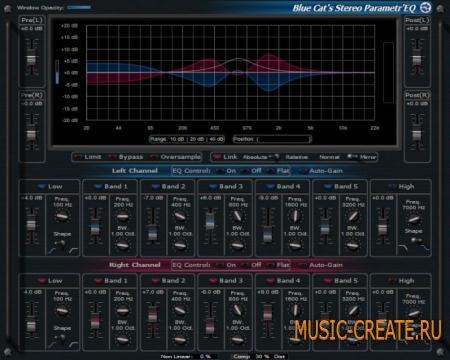 Blue Cat Audio - Stereo Parametr' EQ v3.51 x86 x64 (Team R2R) - эквалайзер