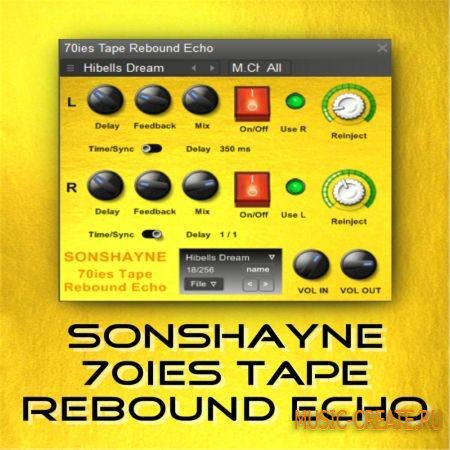 Sonshayne Sounds - 70s Tape Rebound Echo VST - эхо / дилэй эффект