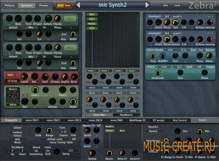 U-he - Zebra & ZebraHZ 2.60 (Team DOA) - модульный синтезатор