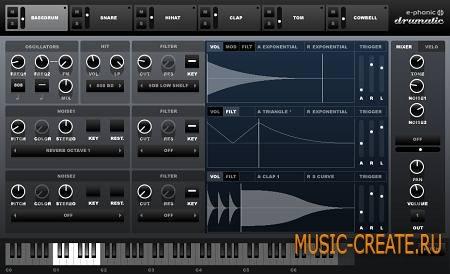 e-phonic - Drumatic 4 v1.0.1 VSTi x86 x64 (Team R2R/CHAOS) - драм синтезатор