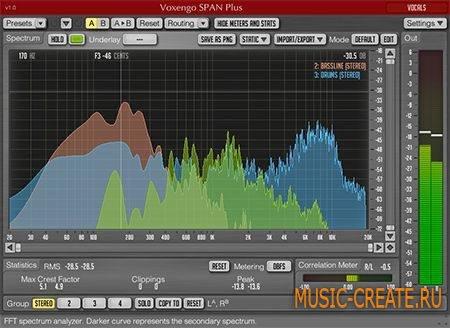 Voxengo - SPAN Plus v1.2.2 WIN/MacOSX (Team R2R) - спектральный анализатор