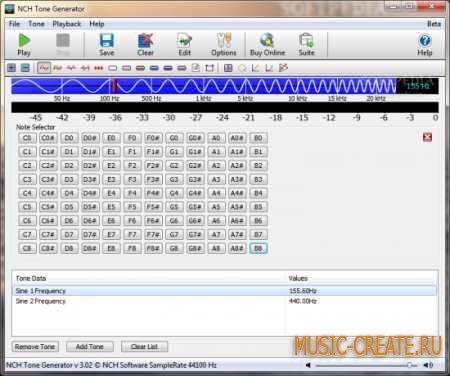 NCH - Tone Generator v3.04 (Team LAXiTY) - генератор сигналов