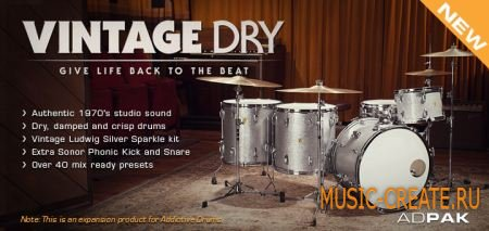XLN Audio - Vintage Dry ADpak (TEAM R2R) - пак для Addictive Drums