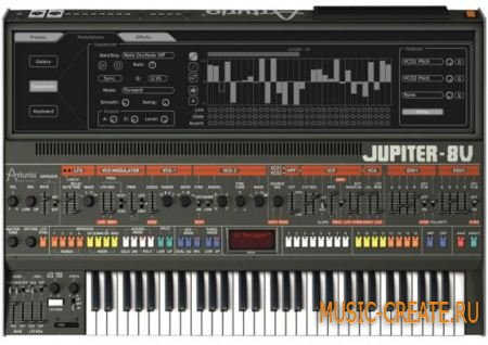Arturia - Jupiter-8 V 2.5.5 WIN/MAC OSX (CH1M3R4 + AiR) - синтезатор