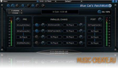 Blue Cat Audio - Blue Cats PatchWork v1.74 WiN/MAC (Team R2R) - виртуальная коммутационная панель