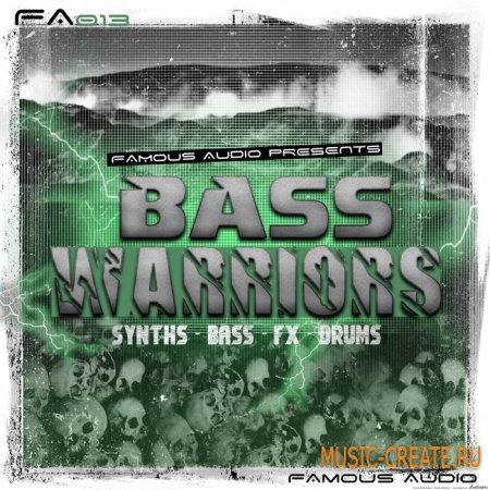 Famous Audio - Bass Warriors (WAV) - сэмплы DnB, Drumstep, Dubstep