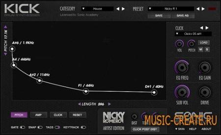 Sonic Academy - KICK Nicky Romero Edition v1.01 WIN/MAC (Team R2R) - драм-синтезатор