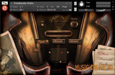 Embertone Friedlander Violin (KONTAKT) - библиотека звуков скрипки