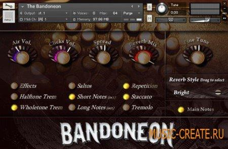 Sampleism - Bandoneon (KONTAKT) - библиотека звуков концертино