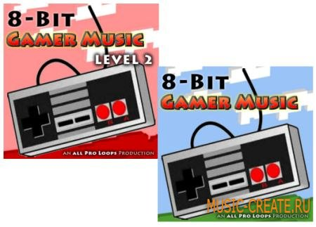 All Pro Loops - 8-Bit Gamer Music Level 1-2 (WAV MIDI) - сэмплы 8 Бит