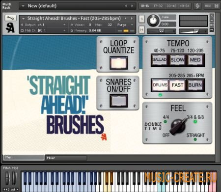 Straight Ahead Samples - Brushes and Mallets v1.1 (KONTAKT) - библиотека ударных