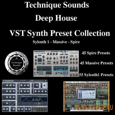 Technique Sounds - Deep House VST Synth Preset Collection (MiDi FXB KDS Spire)