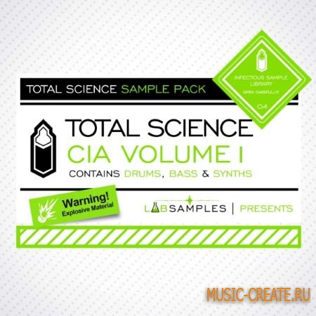 Labsamples - Total Science CIA Drum and Bass Vol.1 (MULTiFORMAT) - сэмплы DnB