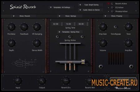 Aegean Music - Spirit Reverb v1.1 WiN/MAC (Team R2R) - ревербератор