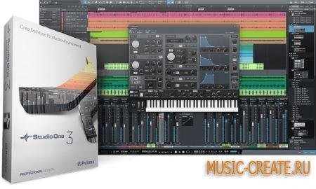 PreSonus Studio One 3 Professional v3.5.5 WiN/MAC (Team P2P/R2R) - программа для создания музыки