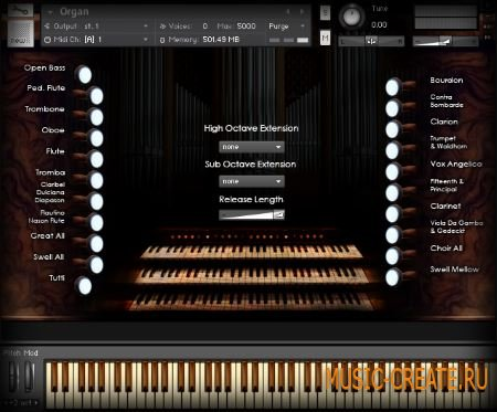 ARIA Sounds - Pipe Organ (KONTAKT) - библиотека звуков органа