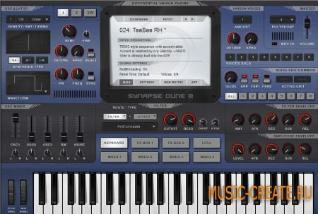 Synapse Audio - DUNE 2 v2.5.0 WiN/MAC (TEAM NeBULA) - синтезатор