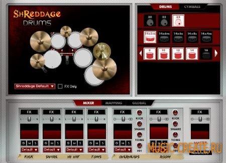 Impact Soundworks - Shreddage Drums (KONTAKT) - библиотека звуков ударных в rock, metal стиле