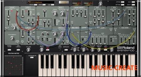 Roland SYSTEM-100 PLUG-OUT v1.1.1 (Team R2R) - виртуальный синтезатор SYSTEM-100
