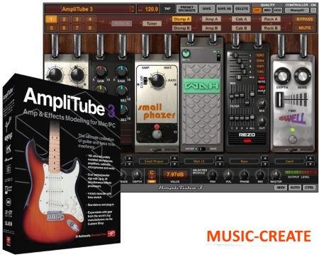 AmpliTube 3 v3.5.1 от IK Multimedia - Искажение / Overdrive / Усилитель (Все модули включены)