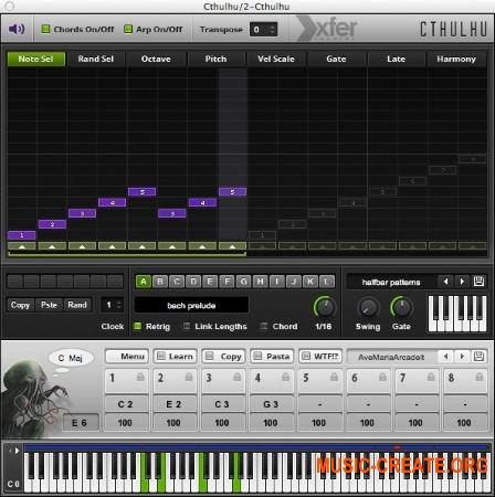 Xfer Records Cthulhu v1.1.1b WIN MAC (Team DVT) - арпеджиатор