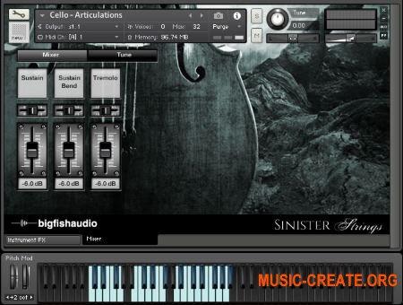 Big Fish Audio - Sinister Strings (WAV KONTAKT) - сэмплы струнных