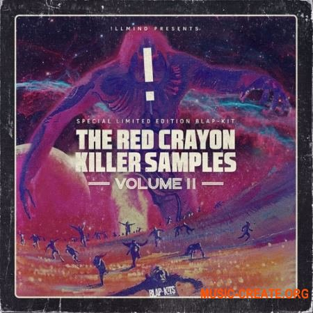 !llmind Blap Kits - The Red Crayon Killer Samples Vol 2 (WAV) - звуковые эффекты