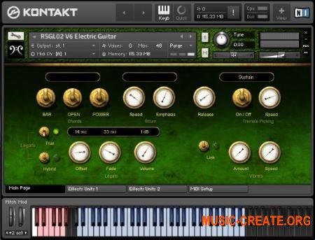 Replika Sound - RSGL02 V6 Electric Guitar (KONTAKT) - библиотека электрической гитары