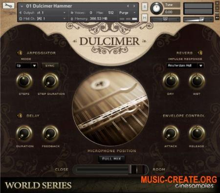 Cinesamples - Dulcimer and Zither (KONTAKT) - библиотека звуков цимбалы и цитры