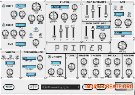 Audible Genius - Primer v1.1.3 WIN / MacOSX (Team R2R) - синтезатор виртуальный