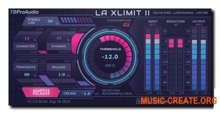TBProAudio - LA xLimit II v1.2.1 AAX RTAS VST3 VST CE (Team V.R) - плагин лимитер