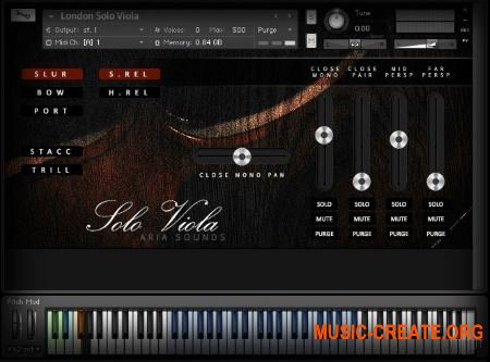 Aria Sounds - LSS Solo Strings - Solo Viola (KONTAKT) - библиотека звуков альт